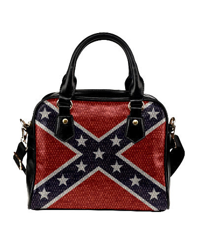 Confederate Battle Flag snakeskin pattern shoulder handbag