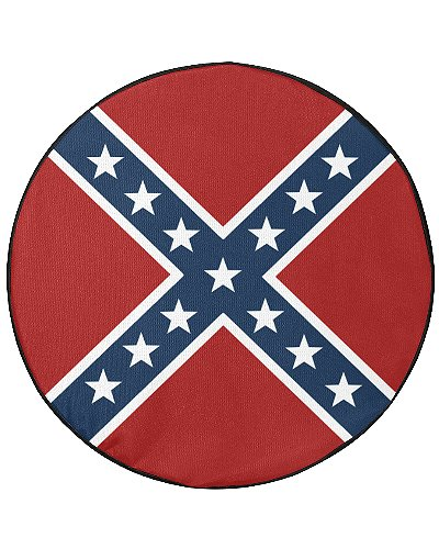 Confederate Battle Flag spare tire cover