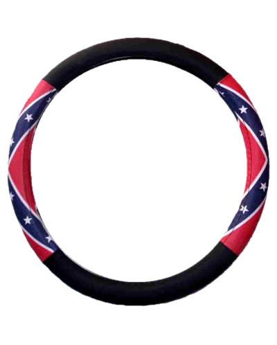Confederate Battle Flag steering wheel cover