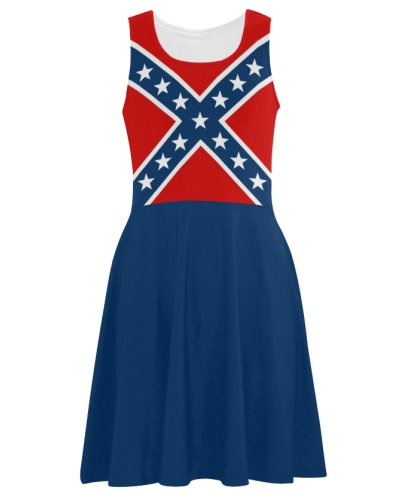 Confederate Battle Flag casual sleeveless sundress