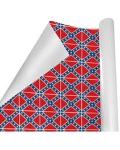 Confederate Battle Flag premium gift wrapping paper