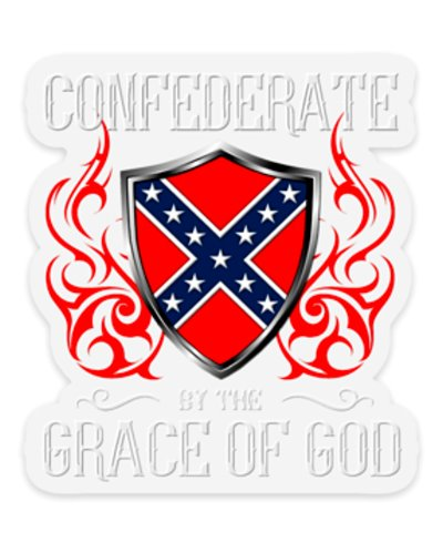 Confederate By the Grace of God premium clear sticker