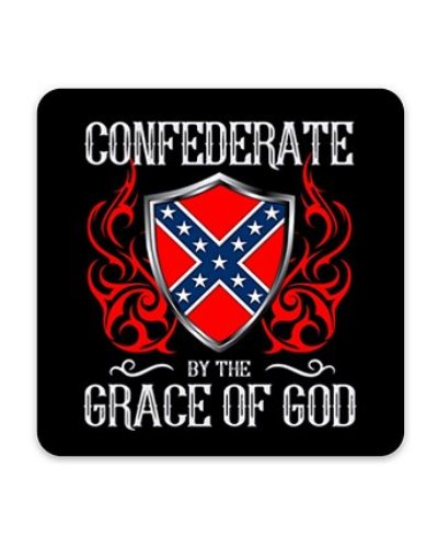 Confederate By the Grace of God sticker