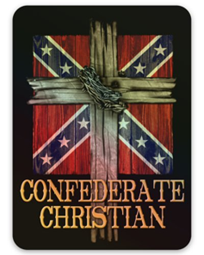 Confederate Christian holographic decal