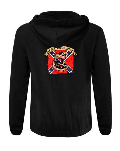 Confederate Don't Tread On Me cotton hoodie
