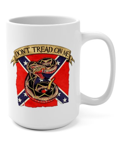 Confederate Don't Tread On Me coffee mug