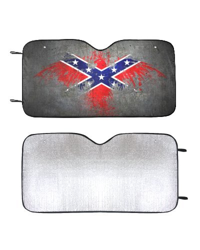 Confederate Eagle car sun shade