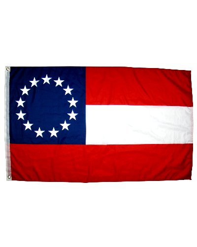 Confederate First National 13 Stars 3'x5' printed polyester flag