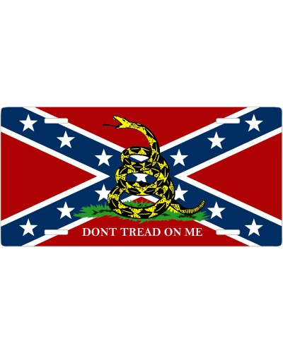 Confederate Gadsden no fade car tag