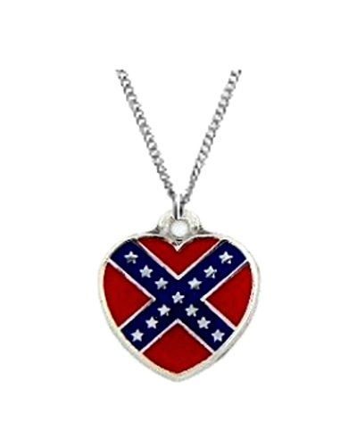 Confederate Heart pendant necklace