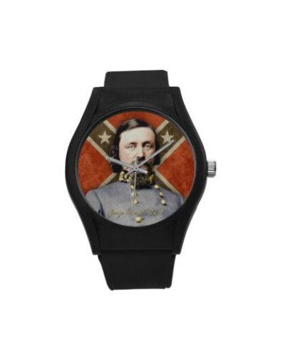 Confederate Heroes: George Pickett plastic band wrist watch