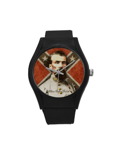 Confederate Heroes: Nathan B. Forrest plastic band wrist watch