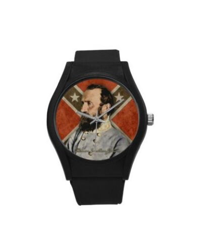 Confederate Heroes: Stonewall Jackson plastic band wrist watch