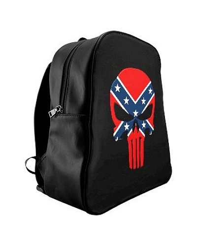 Confederate Punisher faux leather backpack