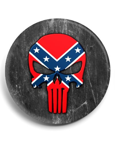 Confederate Punisher button