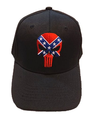 Confederate Punisher embroidered cap