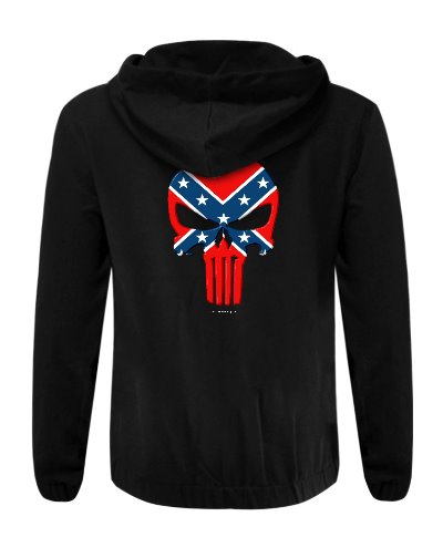 Confederate Punisher cotton hoodie