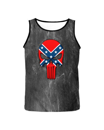 Confederate Punisher all over men's tank top