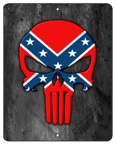 Confederate Punisher metal sign