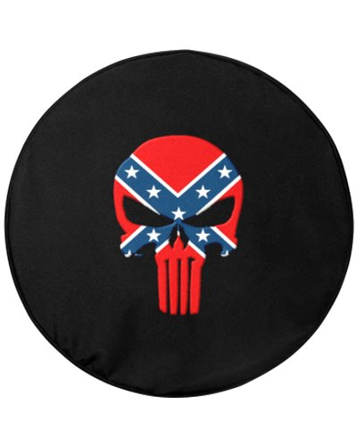 Confederate Punisher spare tire cover