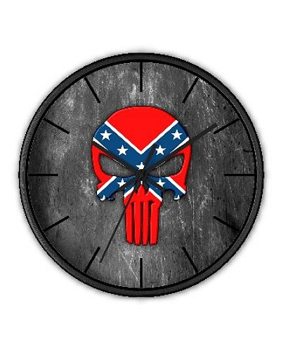 Confederate Punisher wall clock
