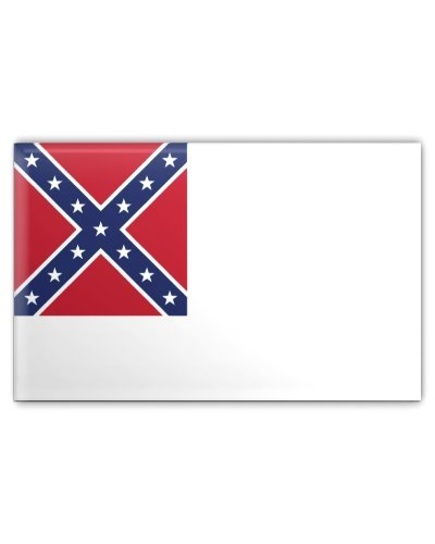 Confederate Second National Flag button