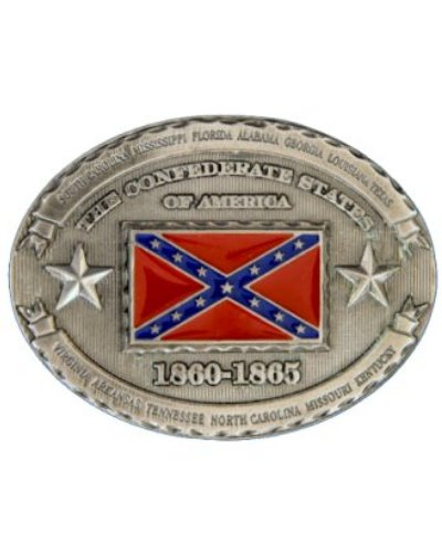 Confederate States of America Battle Flag belt buckle