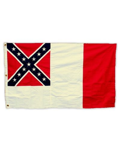 Confederate Third National printed polyester flag