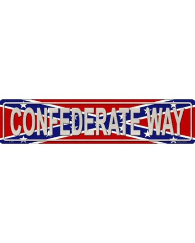 Confederate Way metal street sign