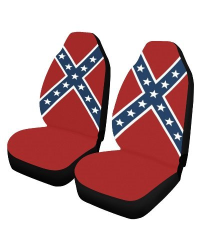 Confederate Battle Flag car seat covers