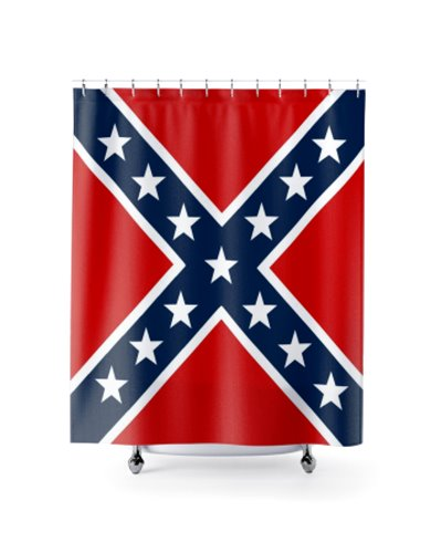 Confederate Battle Flag shower curtain
