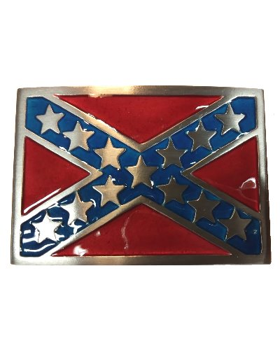 Confederate Army of Tennessee Battle Flag belt buckle