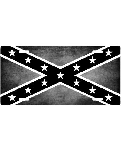Confederate Flag monochrome grunge car tag