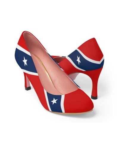 Confederate flag high heels