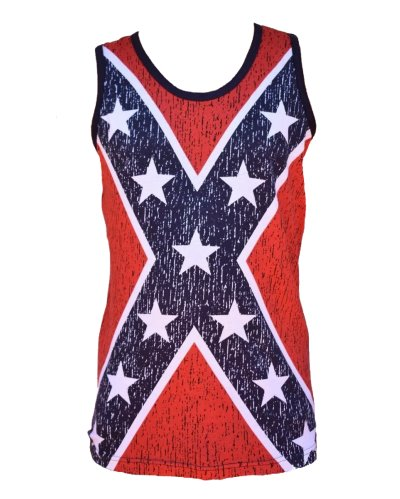 Confederate flag all over men's tank top