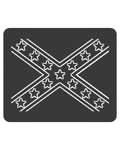 Confederate flag outline mouse pad