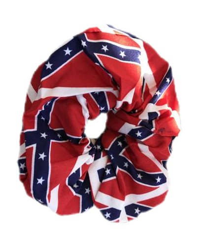 Confederate Battle Flag hair scrunchie