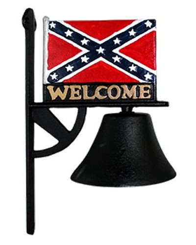 Confederate flag cast iron welcome bell