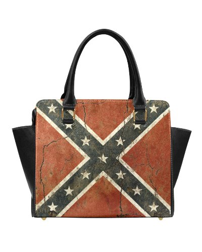 Cracked Concrete Confederate Flag classic handbag