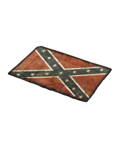 Cracked Concrete Confederate Flag pet bed