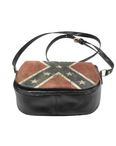 Cracked Concrete Confederate Battle Flag saddle bag purse