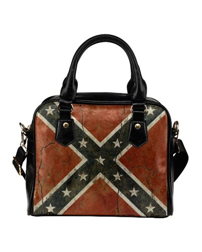 Cracked Concrete Confederate Flag shoulder handbag