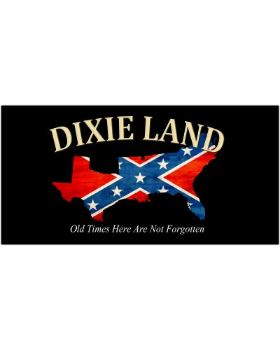 Dixie Land Old Times Here premium vinyl bumper sticker