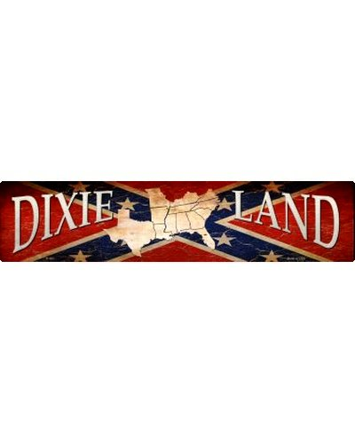 Dixie Land metal street sign