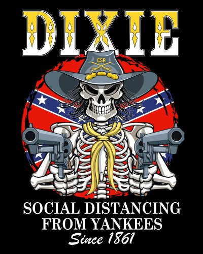 Dixie Social Distancing From Yankees Since 1861 poster