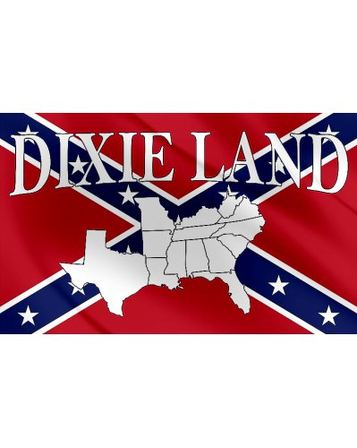 Dixie Land 3'x5' printed polyester flag