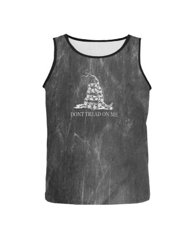 Dont Tread on Me grunge all over men's tank top