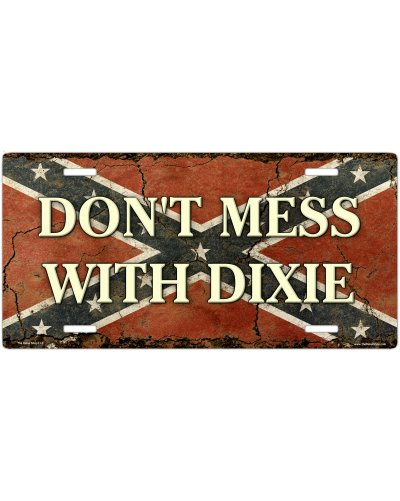 Don't Mess With Dixie Confederate Flag car tag