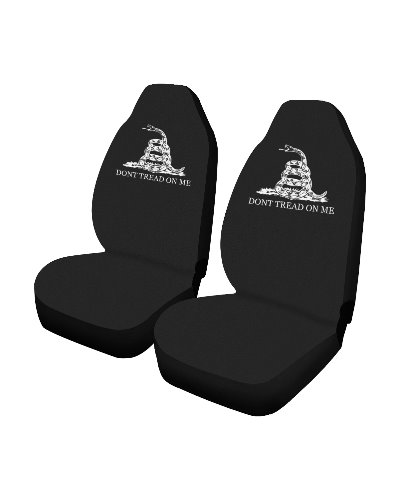 Dont Tread On Me black car seat covers