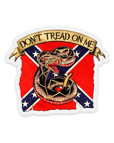 Confederate Dont Tread On Me clear sticker